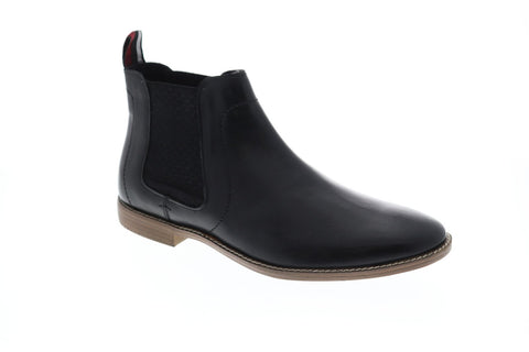 Ben Sherman Gabe Chelsea Mens Black Leather Casual Dress Boots Shoes
