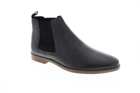 Ben Sherman Gabe Chelsea Mens Gray Leather Casual Dress Boots Shoes