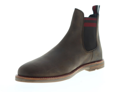 Ben Sherman Brent Chelsea Mens Brown Leather Casual Dress Slip On Boots Shoes