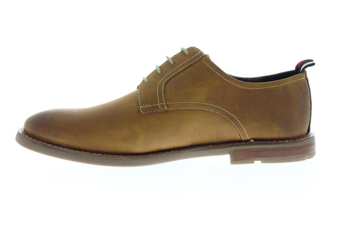Ben Sherman Birk Plain Toe BNM00022 Mens Brown Leather Low Top Oxfords Shoes