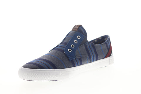 Ben Sherman Percy Laceless BNMS19104 Mens Blue Canvas Lifestyle Sneakers Shoes