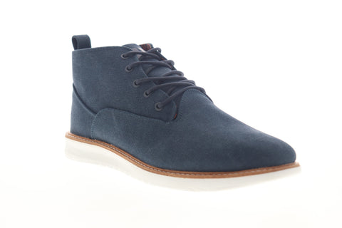 Ben Sherman Omega Casual Chukka BNMS19111 Mens Blue Canvas Lace Up Chukkas Boots
