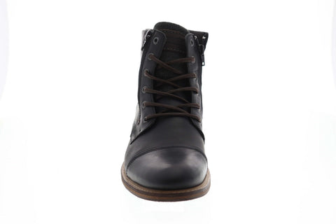 Steve Madden Bridges2 Mens Black Leather Lace Up Casual Dress Boots