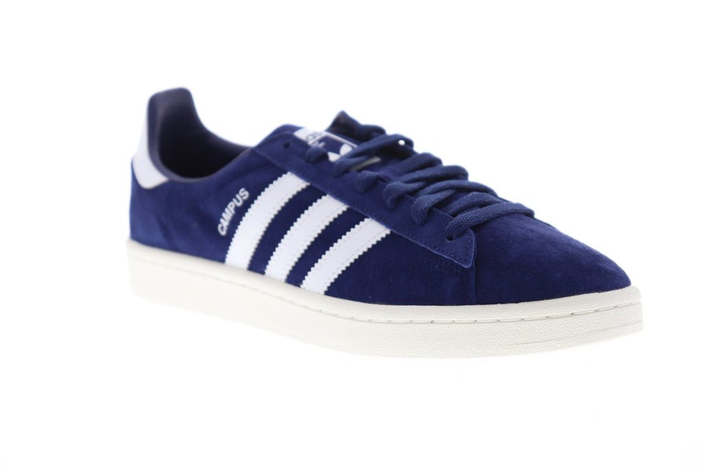 Adidas Campus Bz0086 Mens Blue Suede Casual Lace Up Low