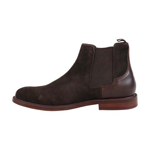 Steve Madden Carve Mens Brown Suede Casual Dress Slip On Boots Shoes