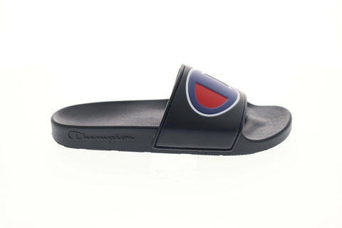 Champion Ipo CM100075M Mens Blue Slip On Slides Sandals Shoes