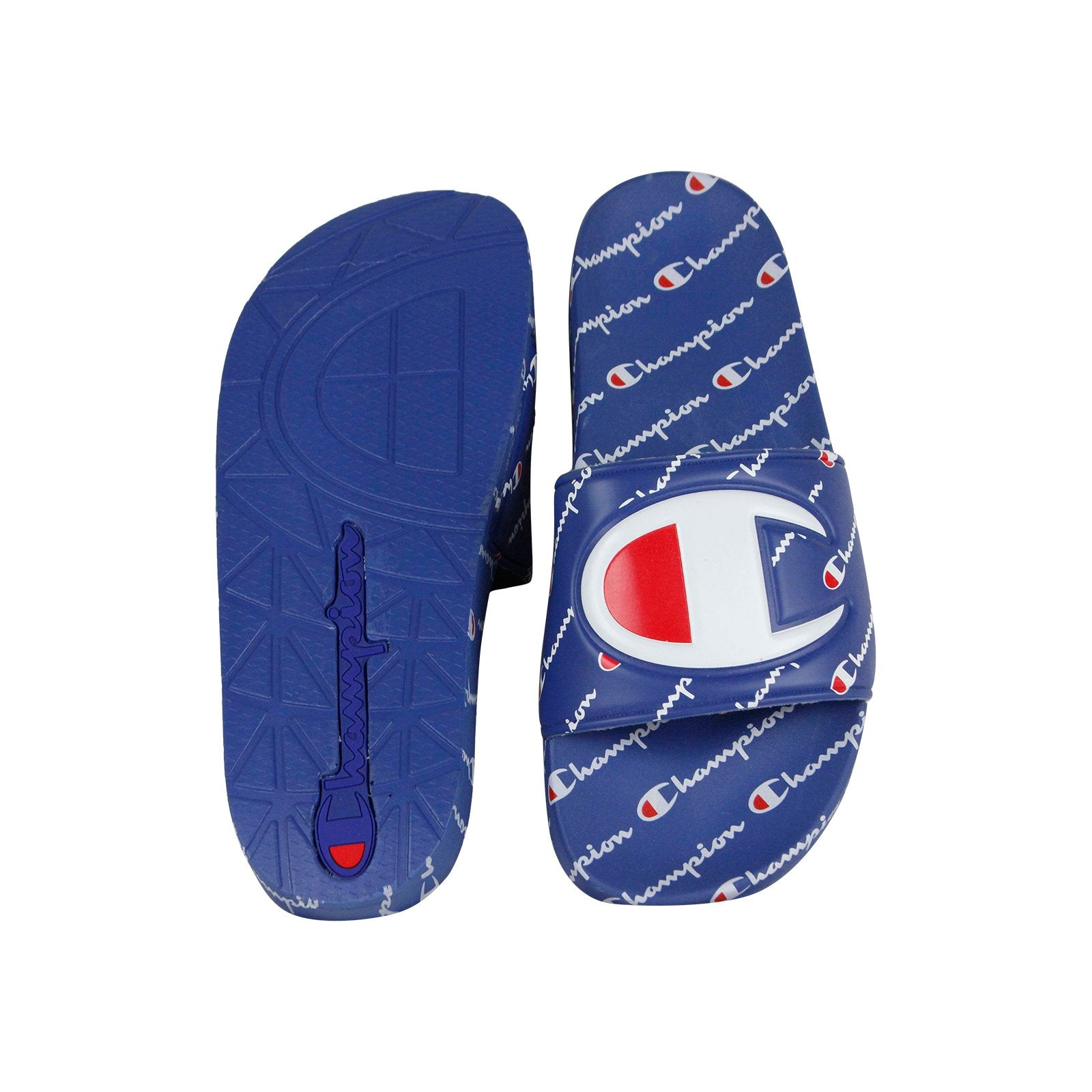 new arrivals c2d7e 72607 Champion Ipo Repeat Mens Blue Synthetic Slides Slip On ...