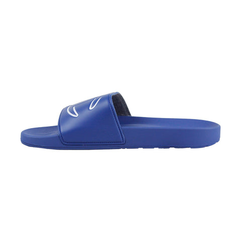 Champion Ipo Mens Blue Synthetic Slides Slip On Sandals Shoes