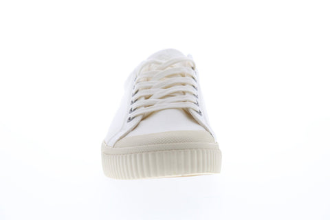 Gola Tiebreak Mens White Canvas Low top Lace Up Sneakers Shoes