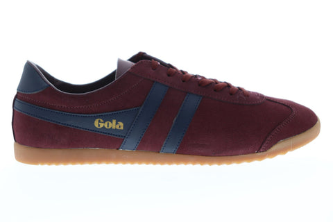 Gola Bullet Suede Mens Red Suede Low Top Lace Up Sneakers Shoes