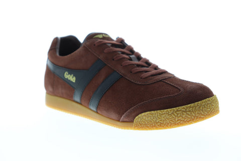 Gola Harrier Suede Mens Red Suede Low Top Lace Up Sneakers Shoes