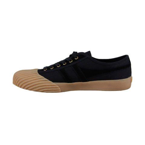 Gola Monarch Mens Black Canvas Low Top Lace Up Sneakers Shoes