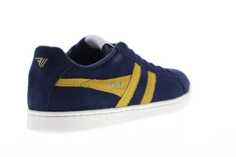 Gola Equipe Suede Mens Blue Suede Low Top Lace Up Sneakers Shoes