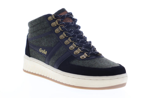 Gola Ascent High CMA521 Mens Gray Suede Mid Top Lace Up Lifestyle Sneakers Shoes