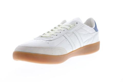 Gola Inca Leather Mens White Leather Low Top Lace Up Sneakers Shoes