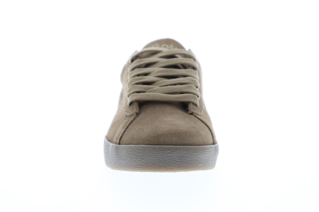 25e2e59a672bbe Gola Tourist Mens Brown Suede Low Top Lace Up Sneakers Shoes - Ruze ...