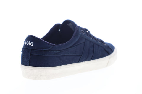 Gola Tennis Mark Cox Wash CMB041 Mens Blue Canvas Lifestyle Sneakers Shoes