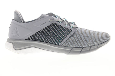 Reebok Fast Flexweave CN1403 Womens Gray Low Top Lace Up Athletic Running Shoes