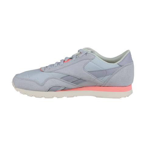 Reebok Classic Nylon Mens Gray Suede & Nylon Low Top Lace Up Sneakers Shoes