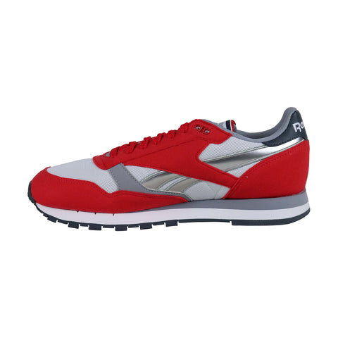 Reebok Classic Leather Mens Red Mesh & Suede Low Top Lace Up Sneakers Shoes