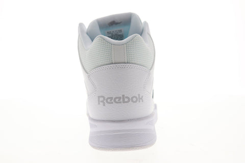 Reebok Royal BB4500 HI2 Mens White Leather High Top Lace Up Sneakers Shoes