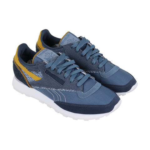 Reebok Classic 83 Pw Mens Blue Canvas Low Top Lace Up Sneakers Shoes