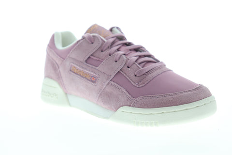 Reebok Workout LO Plus CN4623 Womens Purple Suede Lifestyle Sneakers Shoes