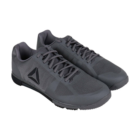 Reebok Speed Tr Mens Gray Nylon Low Top Lace Up Sneakers Shoes