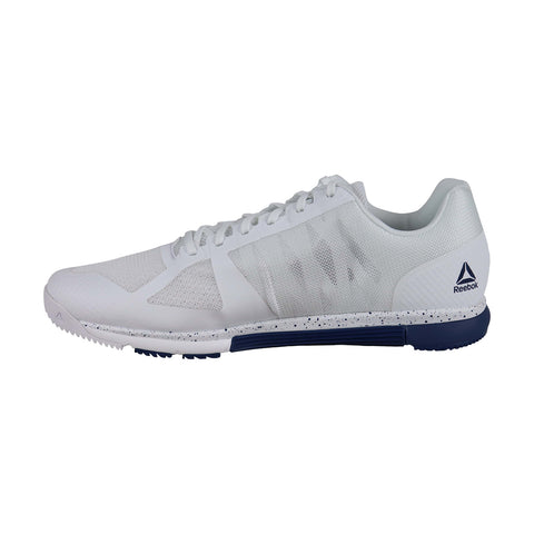 Reebok Speed Tr Mens White Mesh Low Top Lace Up Sneakers
