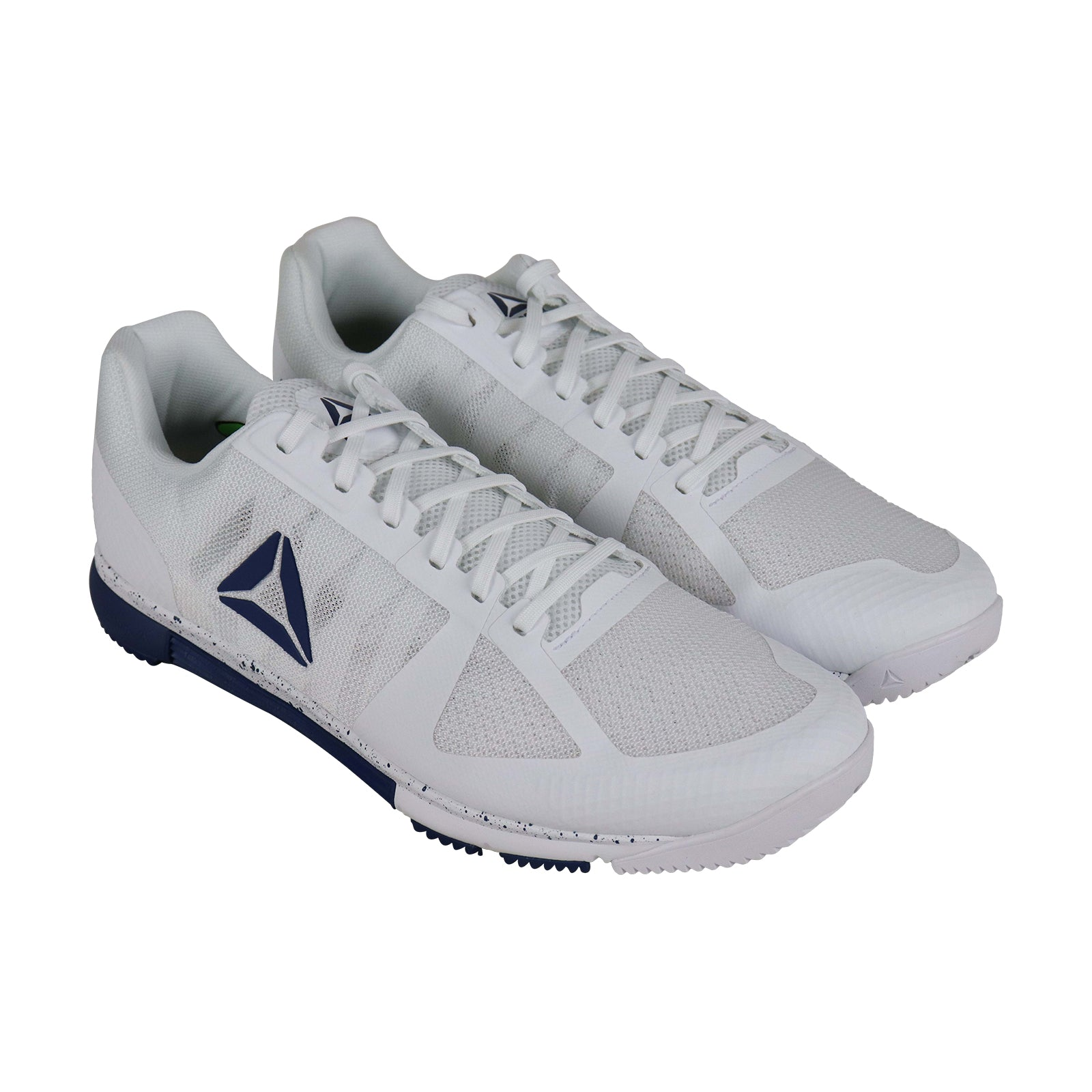 Reebok Speed Tr Mens White Mesh Low Top Lace Up Sneakers Shoes