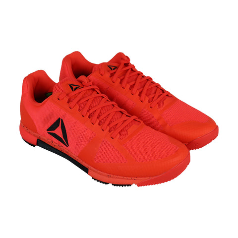 Reebok Speed Tr Mens Red Mesh Low Top Lace Up Sneakers Shoes