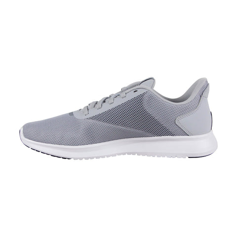 Reebok Instalite Lux Mens Gray Mesh Athletic Lace Up Running Shoes