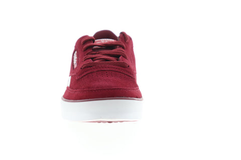 Reebok Revenge  Plus MU CN6989 Mens Red Suede Low Top Lifestyle Sneakers Shoes