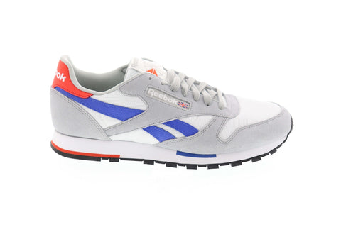 Reebok Classic Leather MU CN7036 Mens Gray Casual Lifestyle Sneakers Shoes