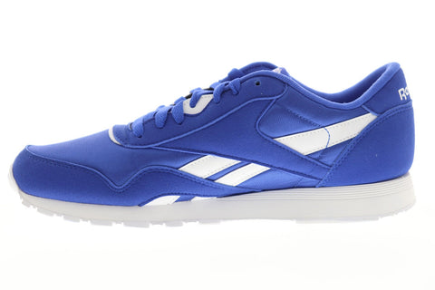Reebok Classic Nylon Mens Blue Nylon Low Top Lace Up Sneakers Shoes