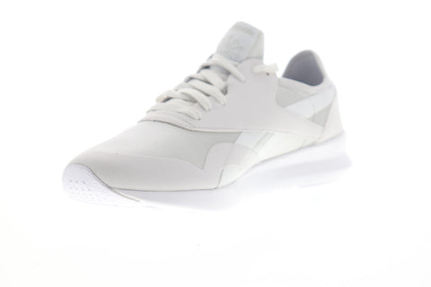 Reebok Classic Nylon SP CN7751 Womens White Suede Lifestyle Sneakers Shoes