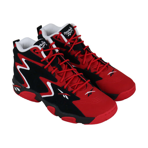 Reebok Mobius Og Mu Mens Red Synthetic & Nubuck Athletic Basketball Shoes