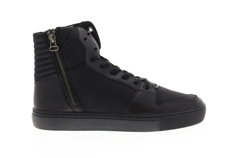 Creative Recreation Alteri Mens Black Canvas High Top Sneakers Shoes