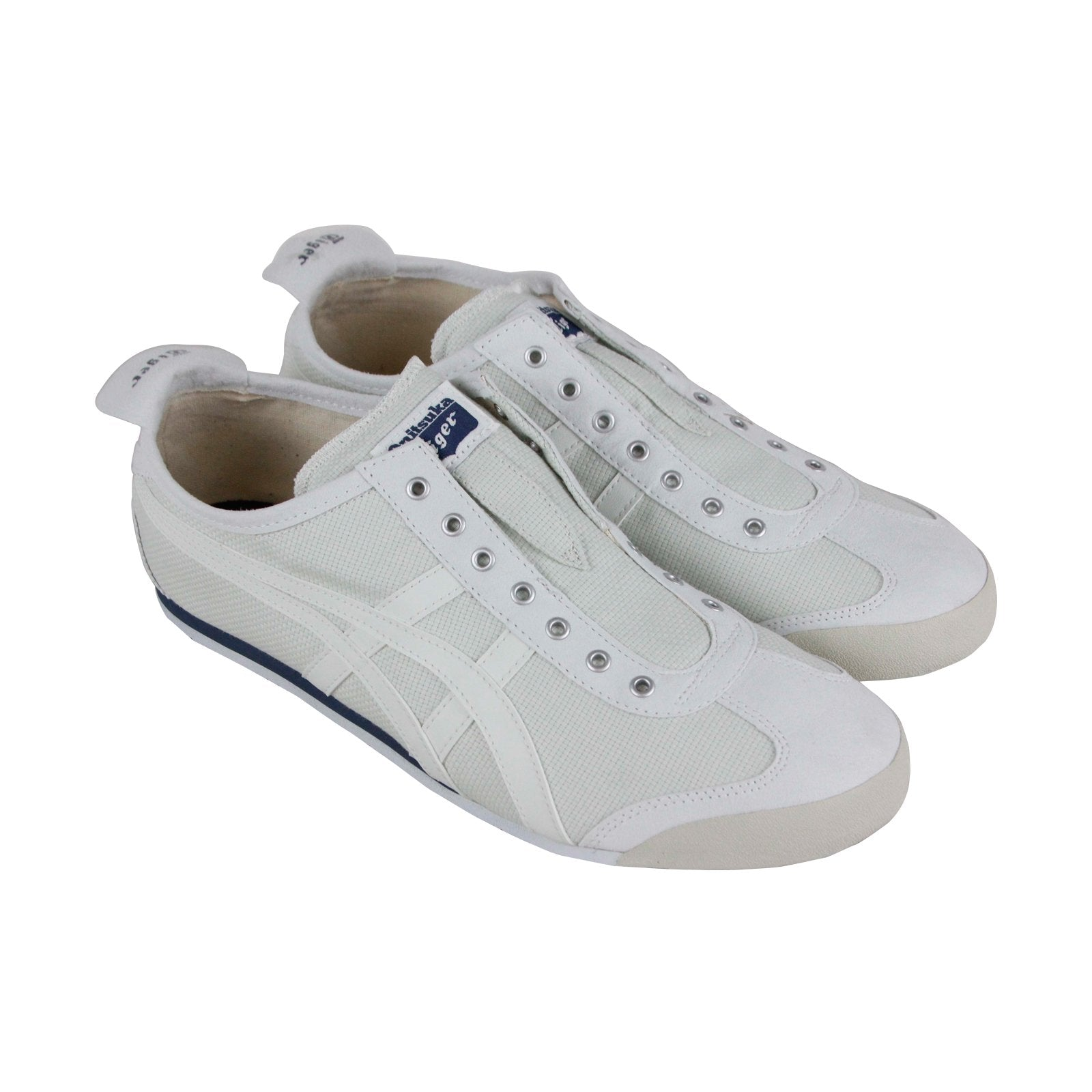 wholesale dealer cf508 94bac Onitsuka Tiger Mexico 66 Slip On Mens Gray Canvas Slip On Sneakers Shoes