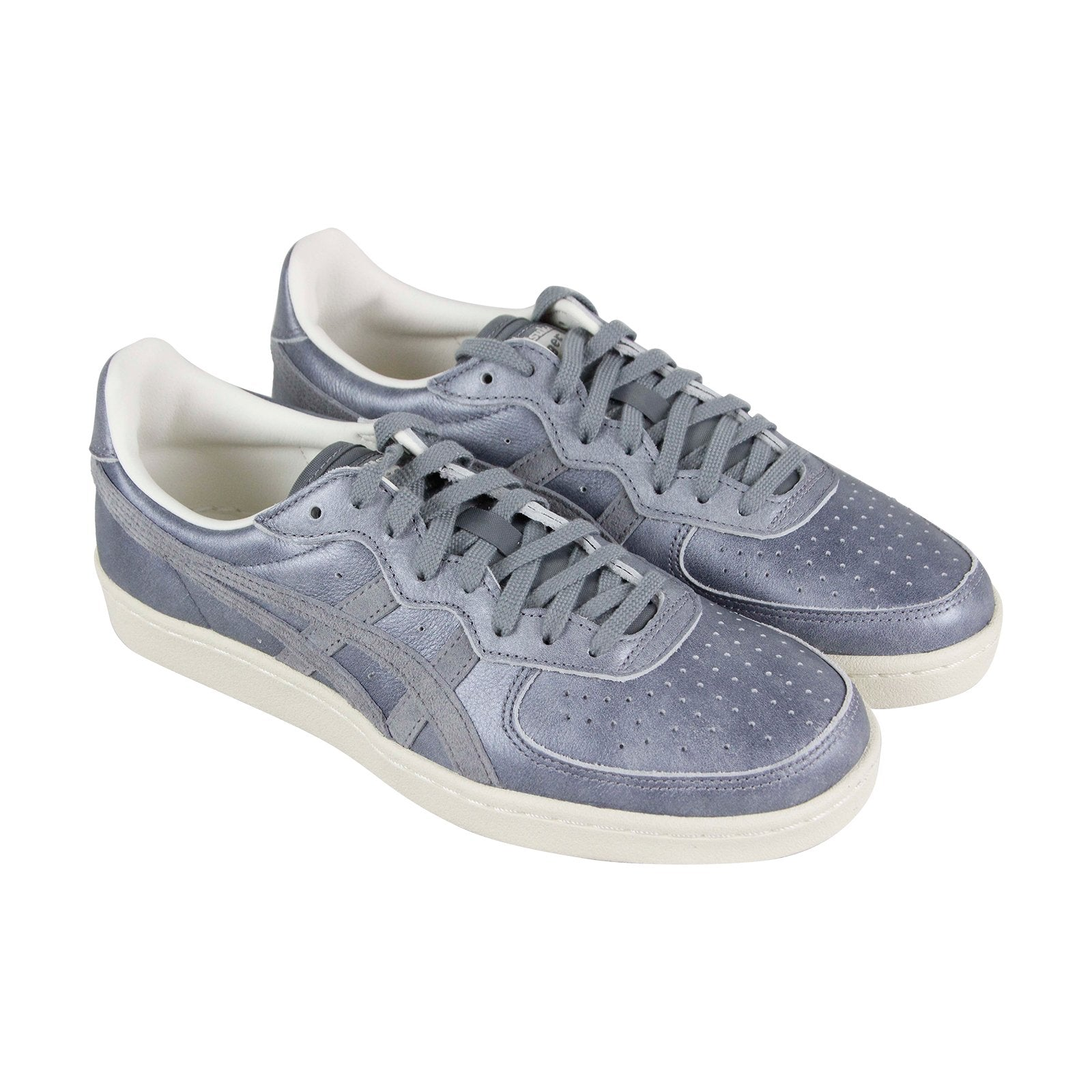 huge discount a5044 03493 Onitsuka Tiger Gsm Mens Gray Leather Sneakers Lace Up Tennis Shoes