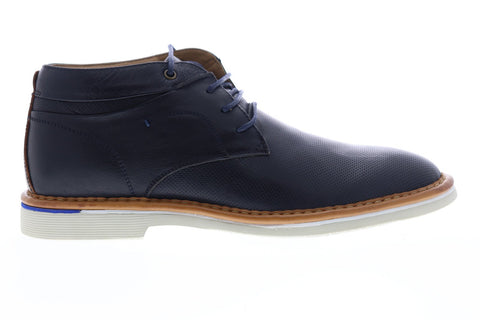 Steve Madden Dazier Mens Blue Leather Lace Up Chukkas Boots Shoes