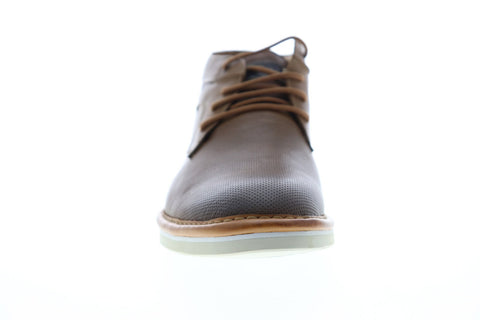 Steve Madden Dazier Mens Brown Leather Lace Up Chukkas Boots Shoes