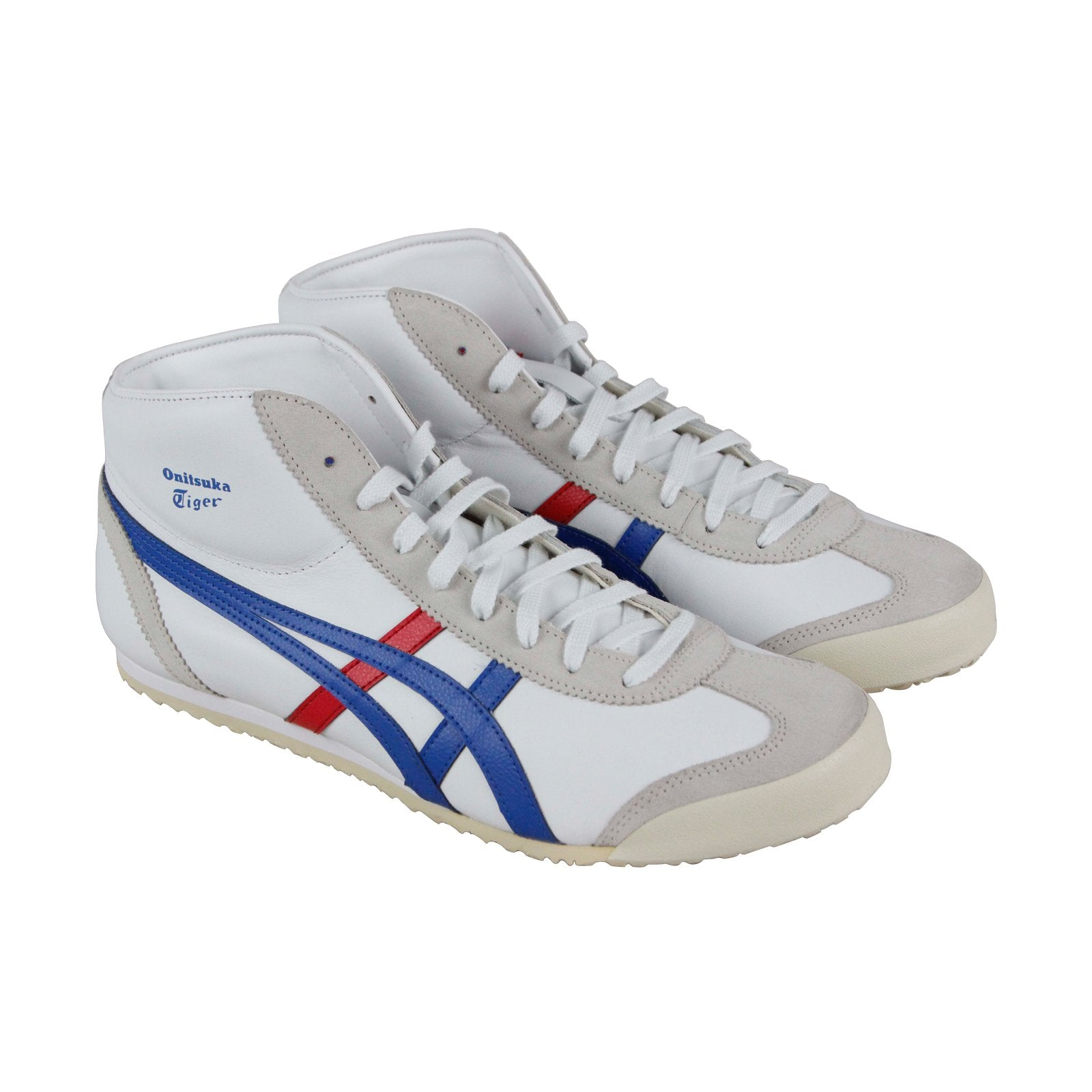 finest selection 26dbe 5ddb6 Onitsuka Tiger Mexico Mid Runner Mens White Leather Low Top Sneakers Shoes
