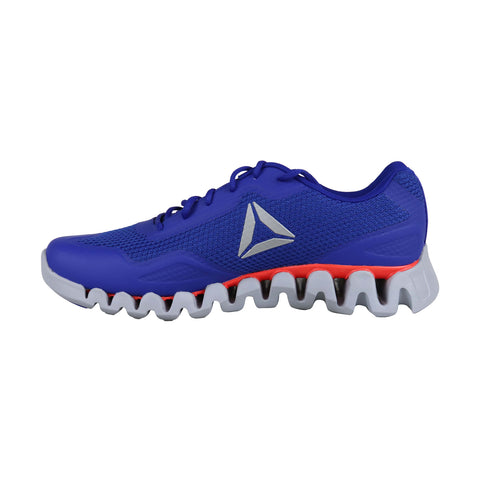 Reebok Zig Pulse Se Mens Blue Textile & Synthetic Athletic Running Shoes