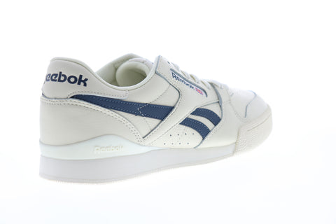 Reebok Phase 1 Pro MU DV3794 Mens White Leather Lace Up Lifestyle Sneakers Shoes