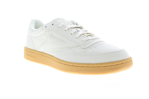 Reebok Club C 85 MU DV4290 Mens White Leather Low Top Lifestyle Sneakers Shoes