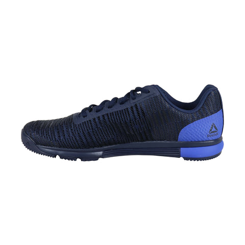 Reebok Speed Tr Flexweave Mens Blue Nylon Low Top Lace Up Sneakers Shoes