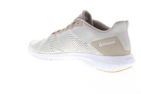 Reebok Flexagon LM DV4806 Mens Beige Tan Canvas Athletic Cross Training Shoes