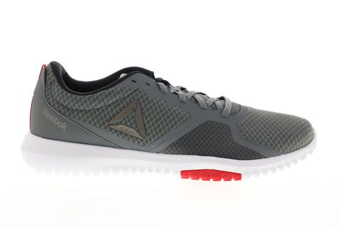 Reebok Flexagon Force DV5207 Mens Gray Textile Lace Up Athletic Running Shoes
