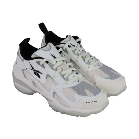 Reebok Dmx Series 1600 Mens White Textile & Synthetic Low Top Sneakers Shoes